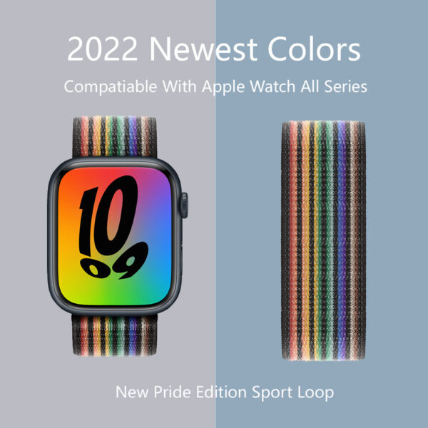 Nylon Sport Loop iWatch Band For Apple Watch Series 6 5 4 3 2 1 SE 38 42 40 44mm $5.49