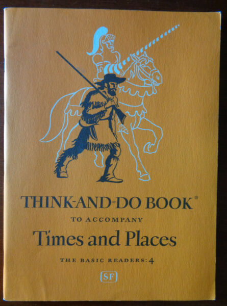 Vintage 1951 THINK AND DO Work BOOK Basic Readers MINT Unused 96pg TIMES amp; PLACE $18.00