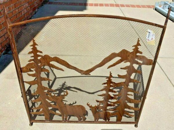 Koehler Home Décor RUSTIC FOREST FIREPLACE SCREEN APPROX 32quot; HIGH