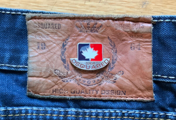 VTG 1990's Dsquared2 Men#x27;s Jeans Straight Leg 1964 Distressed Size 38 Canada $39.95