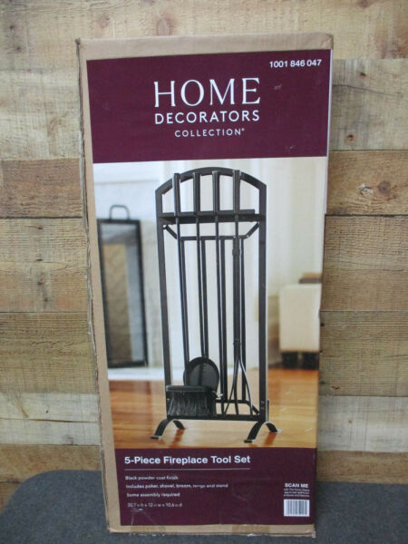 HOME DECORATORS COLLECTION Fireplace Tool Set 5 Piece Set New in Box