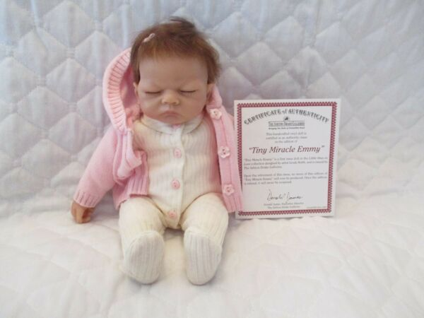 ASHTON DRAKE 10quot; TINY MIRACLE EMMY DOLL CLOSED EYES ORIGINAL CERTIFICATE