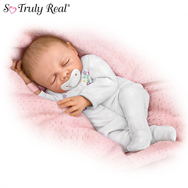 Cherish Collectible Lifelike Vinyl Baby Doll: So Truly Real 18quot; by Ashton Drake