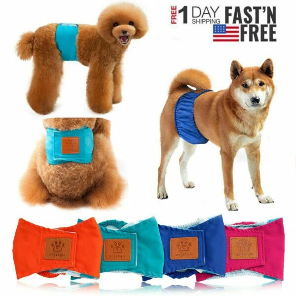 Male Dog Belly Band Diaper Underwear Panties Reuse Washable Potty Train Pet US $7.99