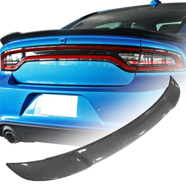 For 11 20 Dodge Charger RT SXT Carbon Fiber Style ABS Rear Trunk Spoiler Wing US $96.69