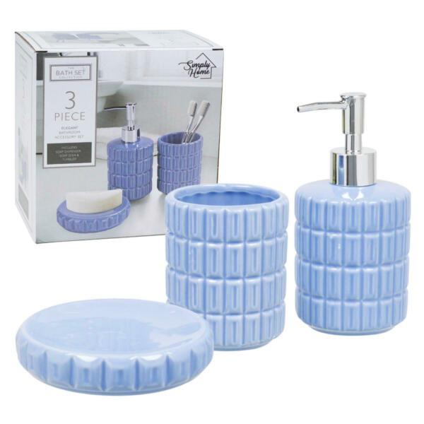 Bathroom accessory Soap lotion Dispenser Soap dish and Tumbler