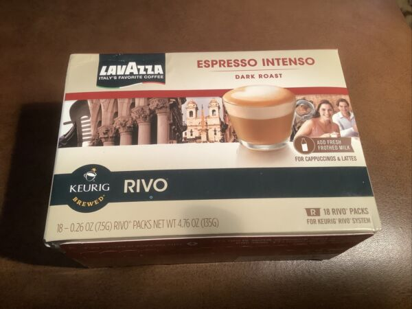 Lavazza Espresso Intenso Dark Roast Keurig Rivo Pack 18 Count