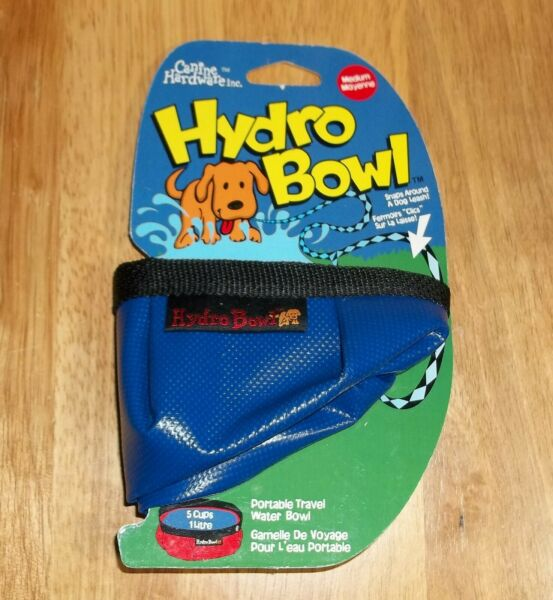 Canine Hardware HYDRO BOWL Dog Travel Water Bowl 5 Cups NEW Old Stock $3.50