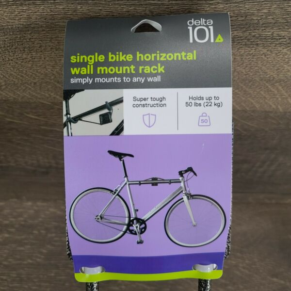 Delta Single Bike Horizontal Wall Mount Rack For Bicycle Holds up to 50 lbs $11.95