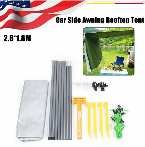 Foldble Car Tent Awning Rooftop SUV Truck Camping Travel Shelter Canopy Sunshade $49.01