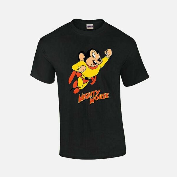 Mighty Mouse T shirt Retro Vintage 70#x27;s Superhero Weekend morning Movie Show CBS $16.99