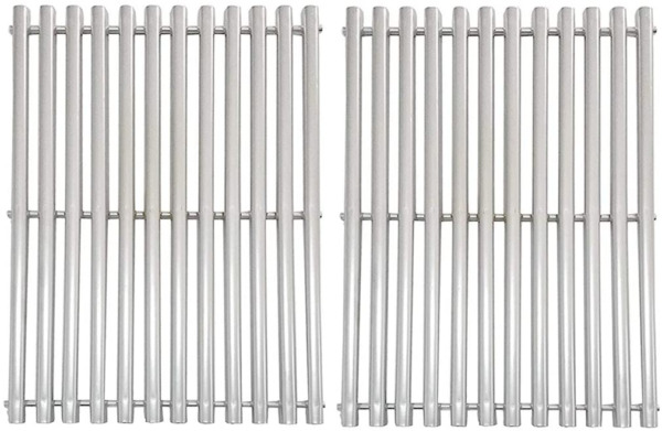 Stainless Steel Grill Grates Replacement Parts Half Tube Set Of 2 17 x 13 1 4 In