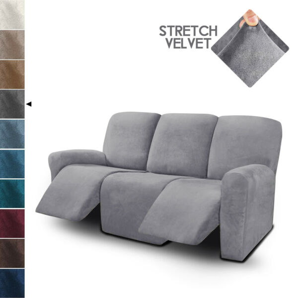 3 Seater Recliner Sofa Covers Velvet Stretch Reclining Couch Covers $59.99