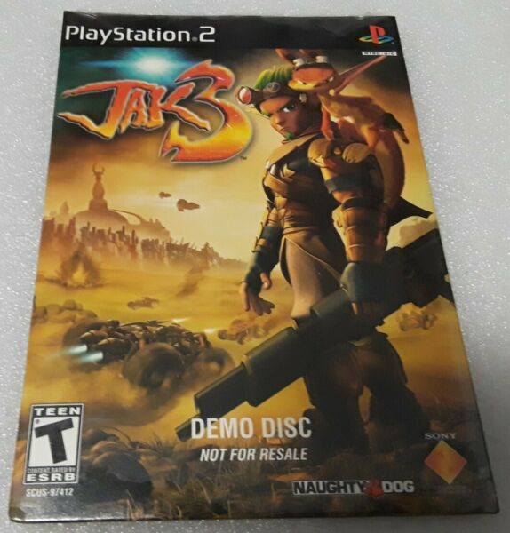 Playstation 2 JAK 3 Sealed Demo Disc Epic Legacy Continues Naughty Dog Rated T $29.99