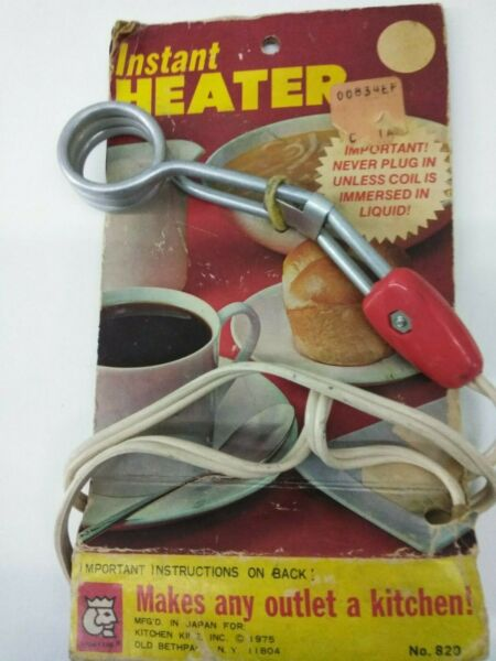 Vtg.Kitchen King Instant Immersion Heater Red Silver New Old Stock Gadget JAPAN $6.28