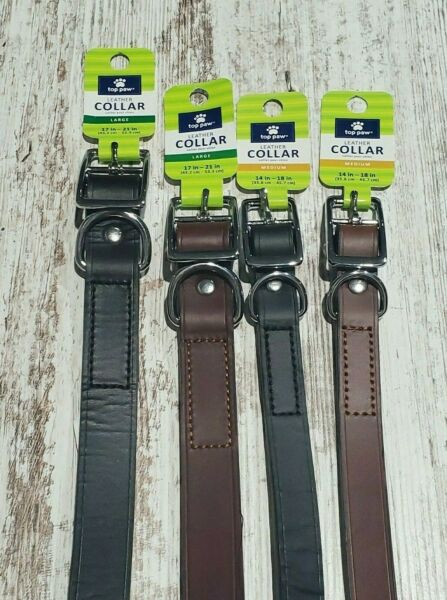 Top Paw Leather Buckle Dog CollarVarious $13.00