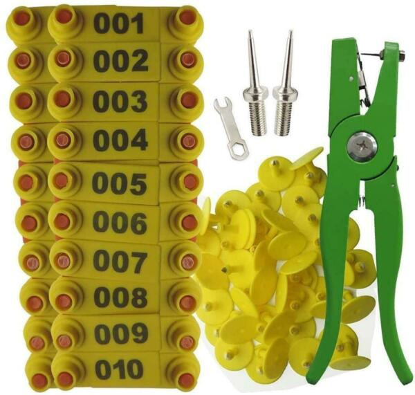 Ear Tag Sheep Goat Cow Livestock Cattle Numbered Applicator Pliers 001 100 NEW