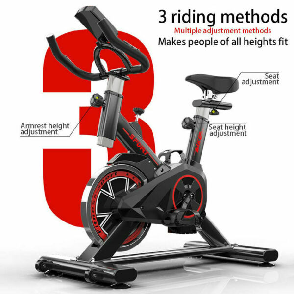 Indoor Exercise Bike Indoor Cycling Stationary Bike Belt Drive with LCD Monitor $169.00