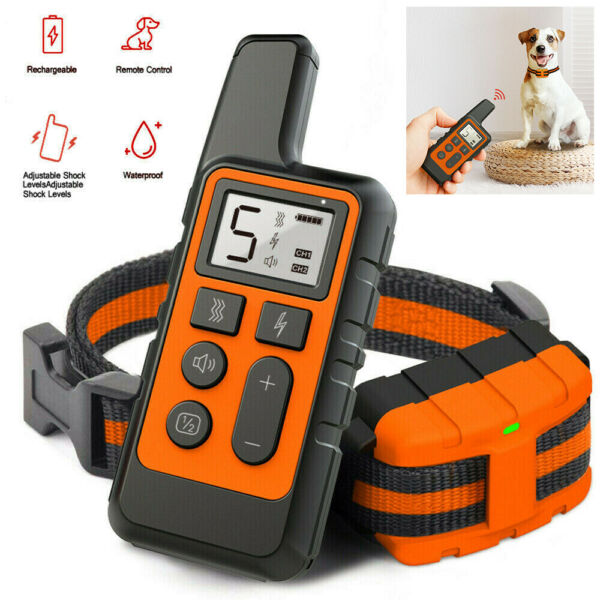 Pet Dog Shock Training Collar Electric Remote Control Waterproof Rechargeable $23.99
