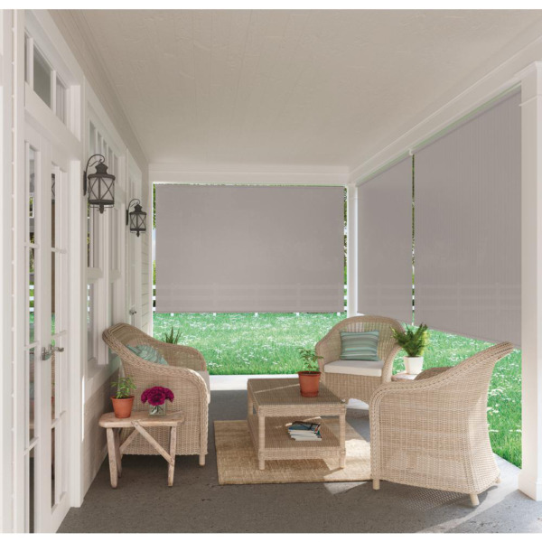 Outdoor Patio Porch Deck Roller Blind Sun Shade Roll Up Exterior 72quot; W x 72quot; L $49.63