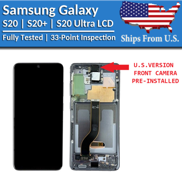 Samsung Galaxy S20 S20 Plus S20 Ultra LCD Replacement Screen Digitizer A