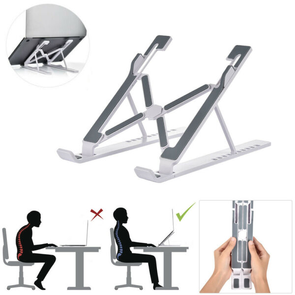 New Adjustable Foldable Laptop Notebook Tablet Riser Tray Holder Portable Stand $10.33