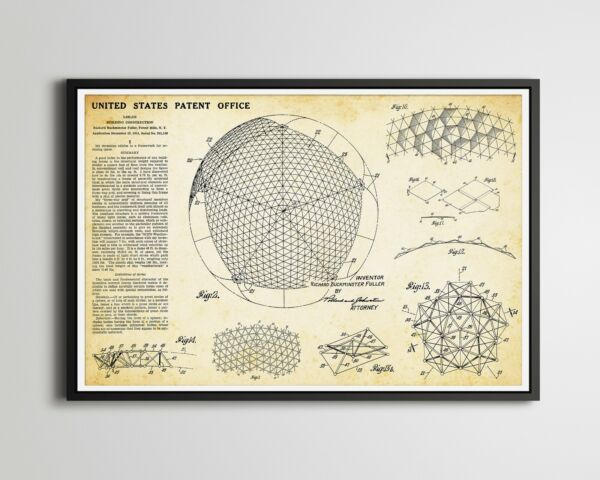 EPCOT Spaceship Earth Geodesic Sphere Patent POSTER up to full size 24 x 36 $22.00