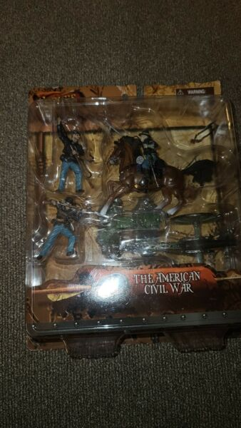 NEW Forces Of Valor 23206 Civil War Union Infantry Mounted Officer amp; Cannon A