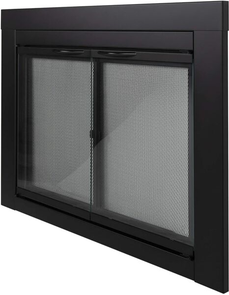 Pleasant Hearth AN1012 Alpine Black Fireplace Glass Doors Large