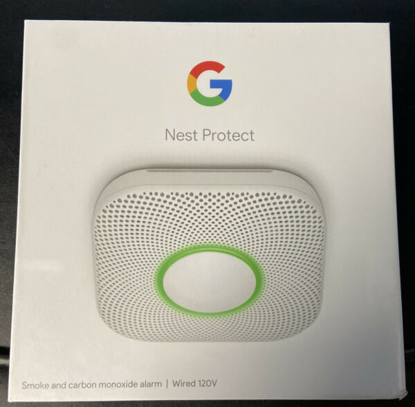 Nest Protect Smoke amp; Carbon Monoxide Alarm Model S3003LWES 2nd Gen New Wired $99.99