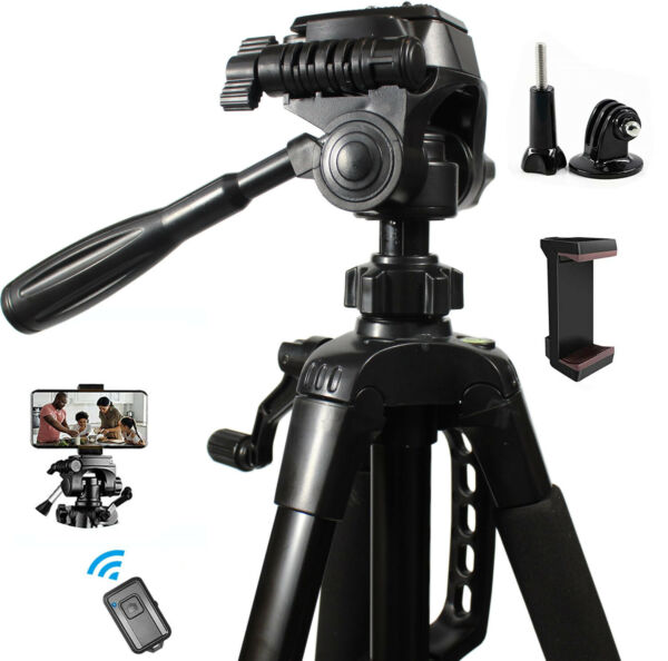 Tripod Camera 60 Inch Pro Series Full Size Camera Video Tripod Portable Pouch