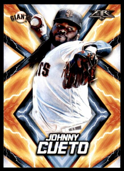 2017 Topps Fire #28 Johnny Cueto