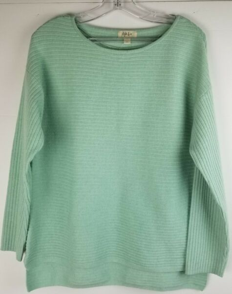 Style amp; Co Womens Green Sweater Boatneck Rib Pullover Soft Size XS $21.12