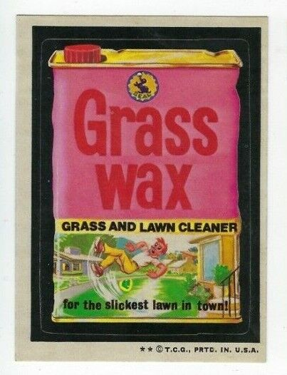 1973 Topps Wacky Packages 4th Series 4 GRASS WAX LAWN CLEANER nm o c $2.99