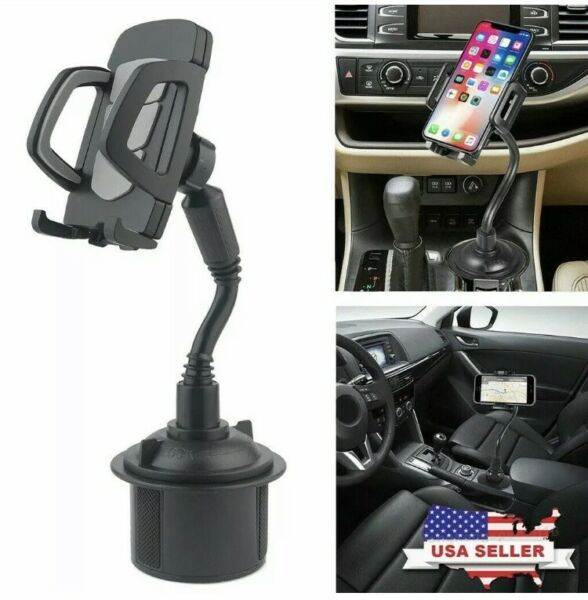 New Universal Adjustable Car Mount Gooseneck Cup Holder Cradle for Cell Phone #1 $8.99