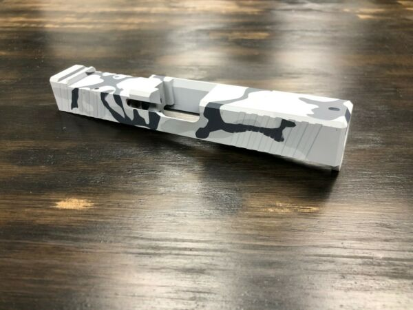 Slide for Glock 19 PF940c Slide G19 Gen 3 w RMR Cutout Alpine Winter Camo $289.99