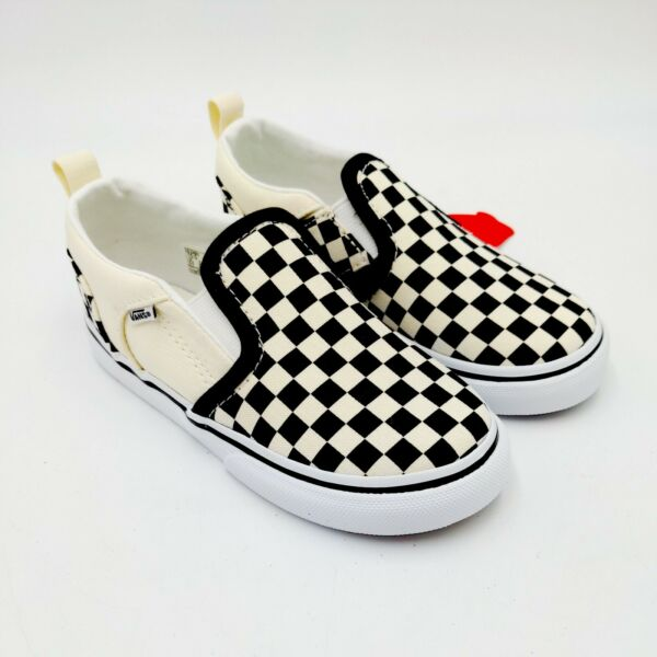 Vans Asher Kid#x27;s Toddler 10T Checkerboard Slip On Shoes $39.99