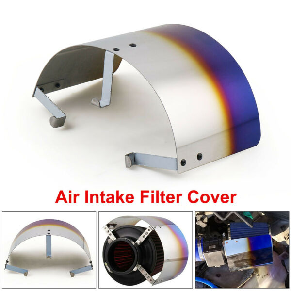 Universal Racing Stainless Steel 2.5quot; 3.5quot;Air Intake Filter Heat Shield Cover $21.09