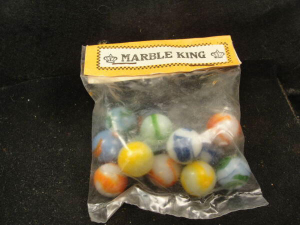 Vintage New Old Stock bag Heaton Agate Circa 1945 marbles in Marble King bag $17.50
