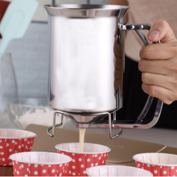 Pancake Batter Dispenser Holds 3 Cups of Batter For Baking Muffins And Cupcakes