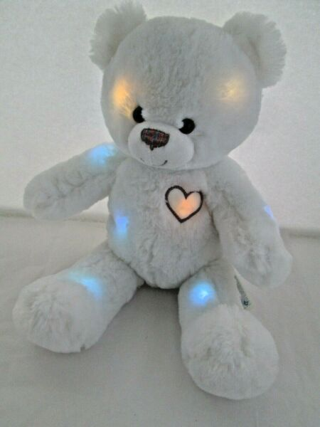 2012 Build A Bear Hugs So Bright White Fiber Optic Lights Limited Works Great $75.00