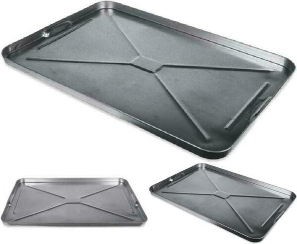 Oil Drip Pan Galvanized Tray Metal Large For Under Car Garage Floor Automotive $22.96