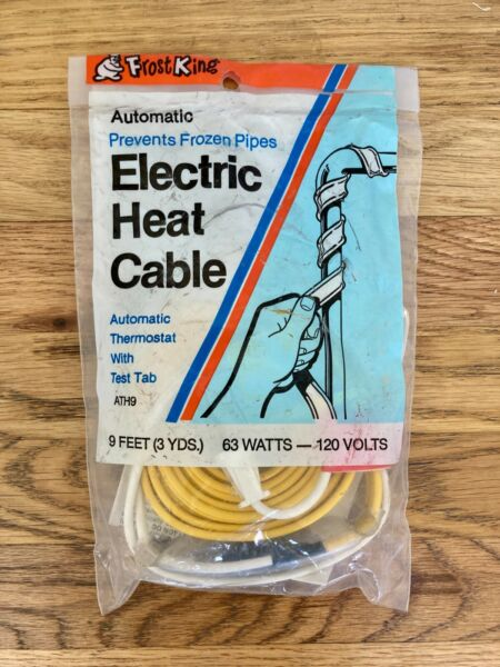 Frost King Electric Heat Cable 9 Ft $17.99