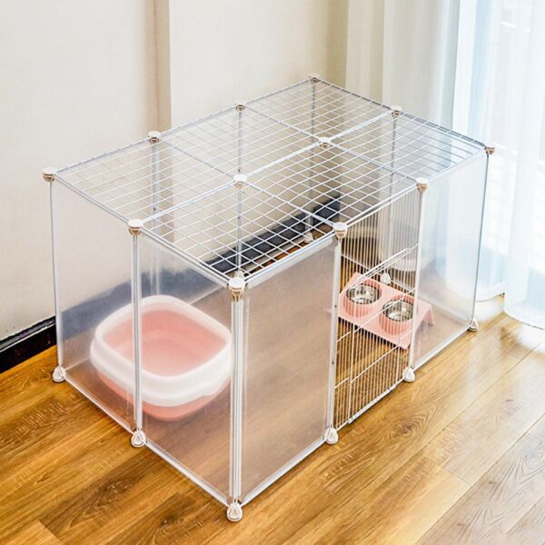 Portable Metal Dog Pet Playpen Crate Animal Fence Exercise Cage Multi Size USA $48.00