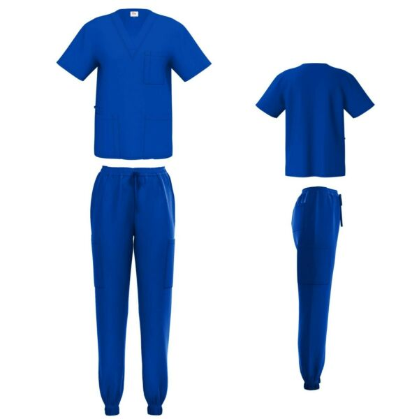 Unisex STRETCH Jogger Scrub Set Solid V Neck Top Men Women Jogger Nurse Uniform