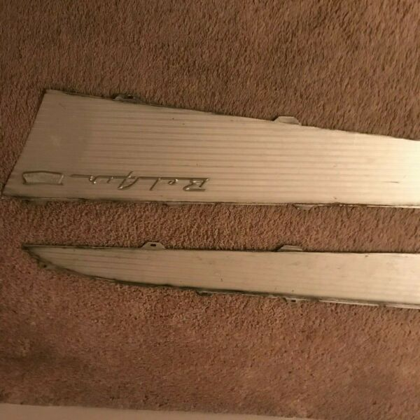 57 chevy parts used antique wing tips and bumper stainless chrome trim bel air $100.00