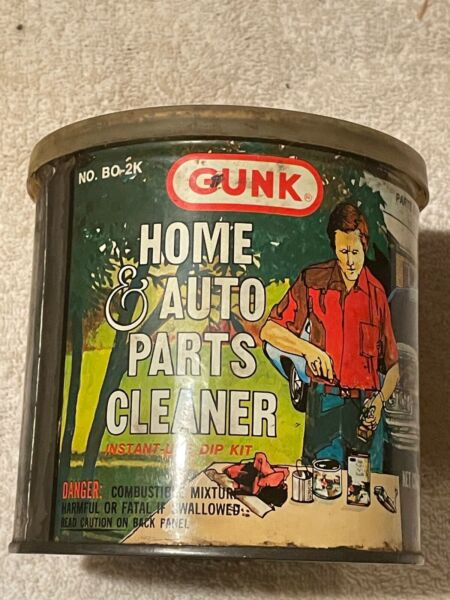 Vintage Gunk Home amp; Auto Parts Cleaner Metal Can w Parts Basket amp; Lid Included. $12.00