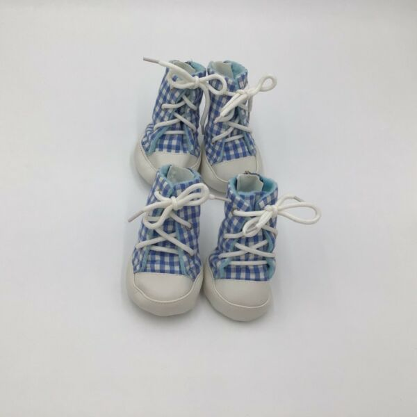 East Side Collection GINGHAM Dog High Top Tennis Shoes Boots $12.99