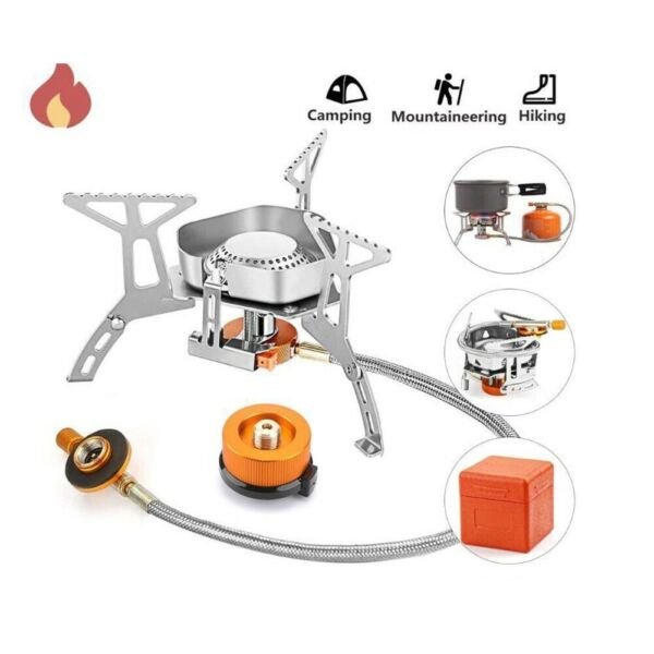 Outdoor Portable Gas Burner Folding Electronic Stove Hiking USA Seller