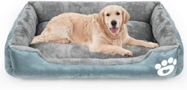 Calming Dog Bed Warming Washable Rectangle Sleeping Orthopedic Sofa Pet Bed wit $49.89